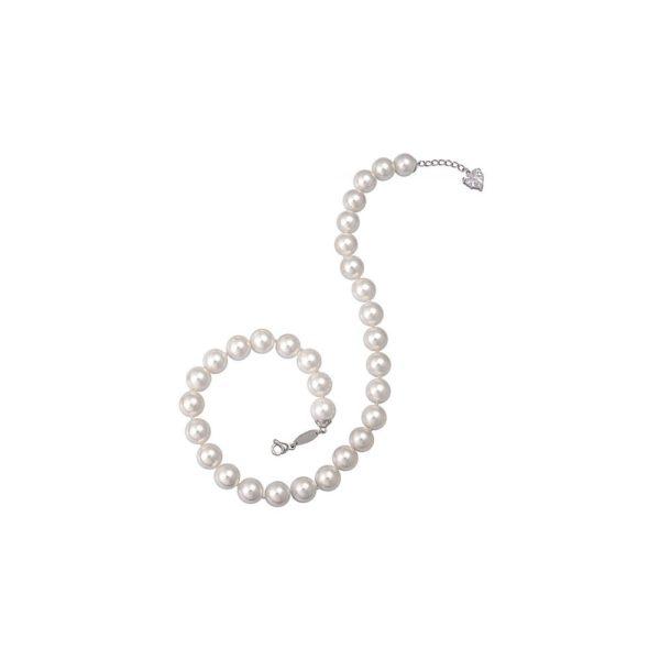 Girocollo in argento con perle