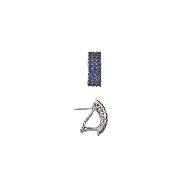 Orecchini in argento con zirconi blu