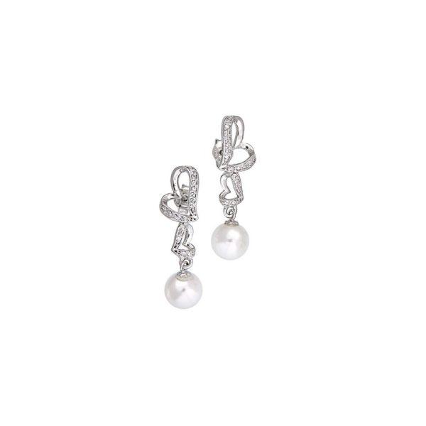 Orecchini in argento con micro pavè