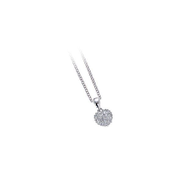 Girocollo in argento con zirconi