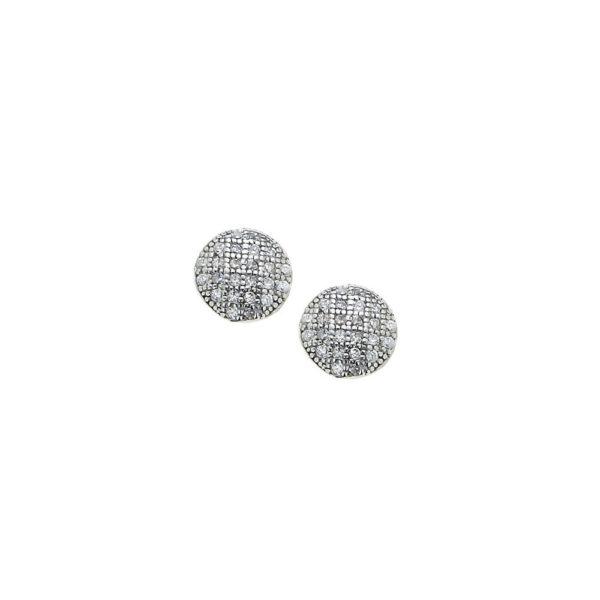 Orecchini in argento con micropavè
