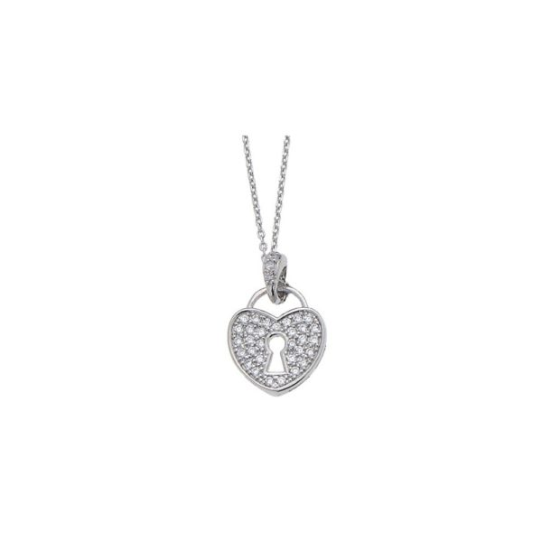 Girocollo in argento con micro pavè