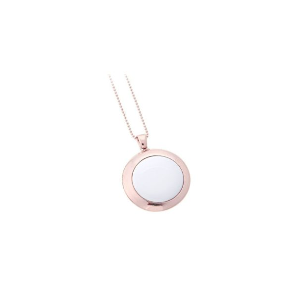 Girocollo in argento rose