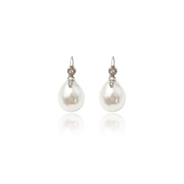 Orecchini in argento 925./.. con perle.