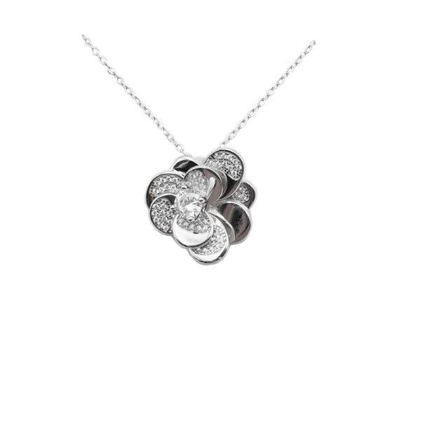 Collana in argento 925./.. con zirconi