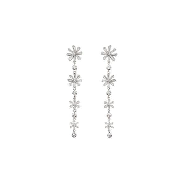Orecchini in argento 925./.. con zirconi