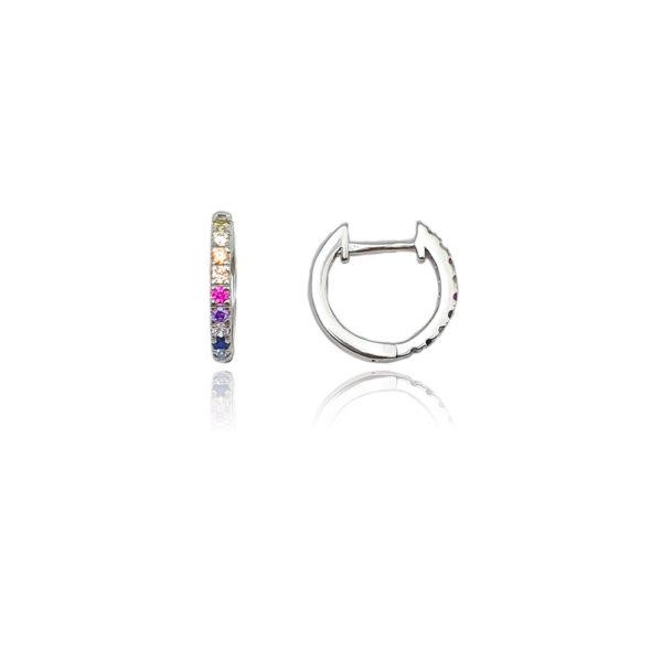Anello in argento multicolor