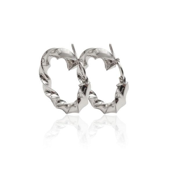 orecchini argento lucido
