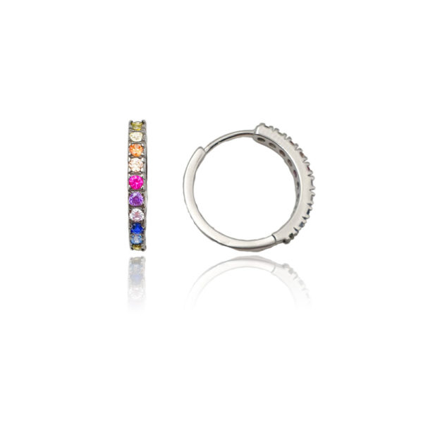 Orecchini in argento multicolor