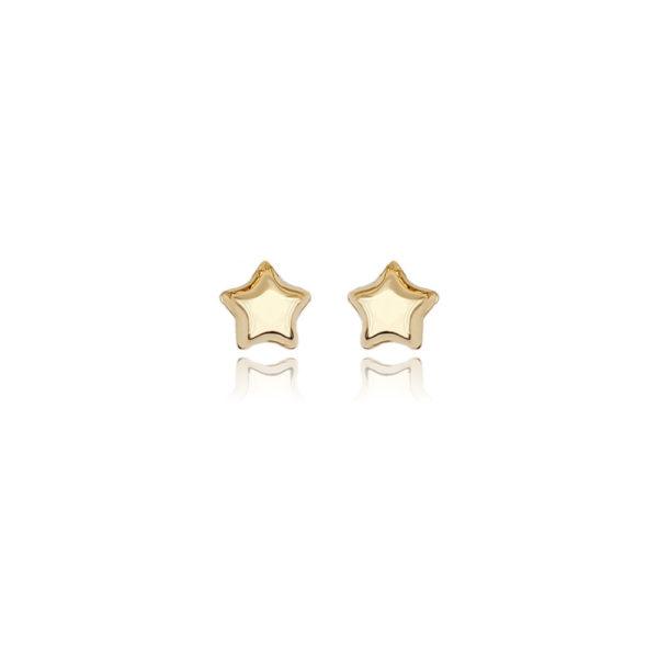 Orecchini in argento 925./.. dorato, disegno stella