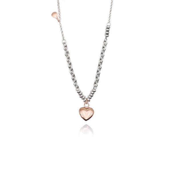 Collana in argento 925./.. disegno cuore.