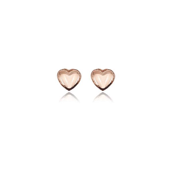 Orecchini in argento 925./.. disegno cuore rosè