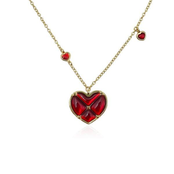 Collana in argento 925./.. dorato, disegno cuore.